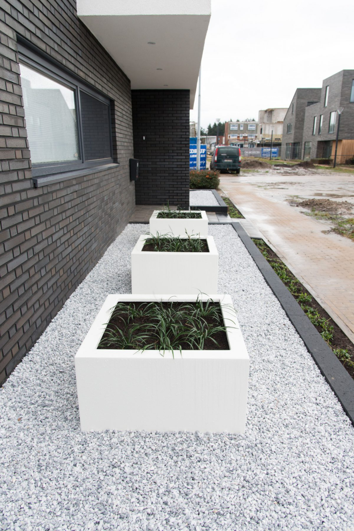 Tuinaanleg Eindhoven nieuwbouw villa