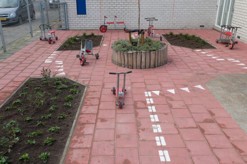 Tuinaanleg schoolplein Eindhoven